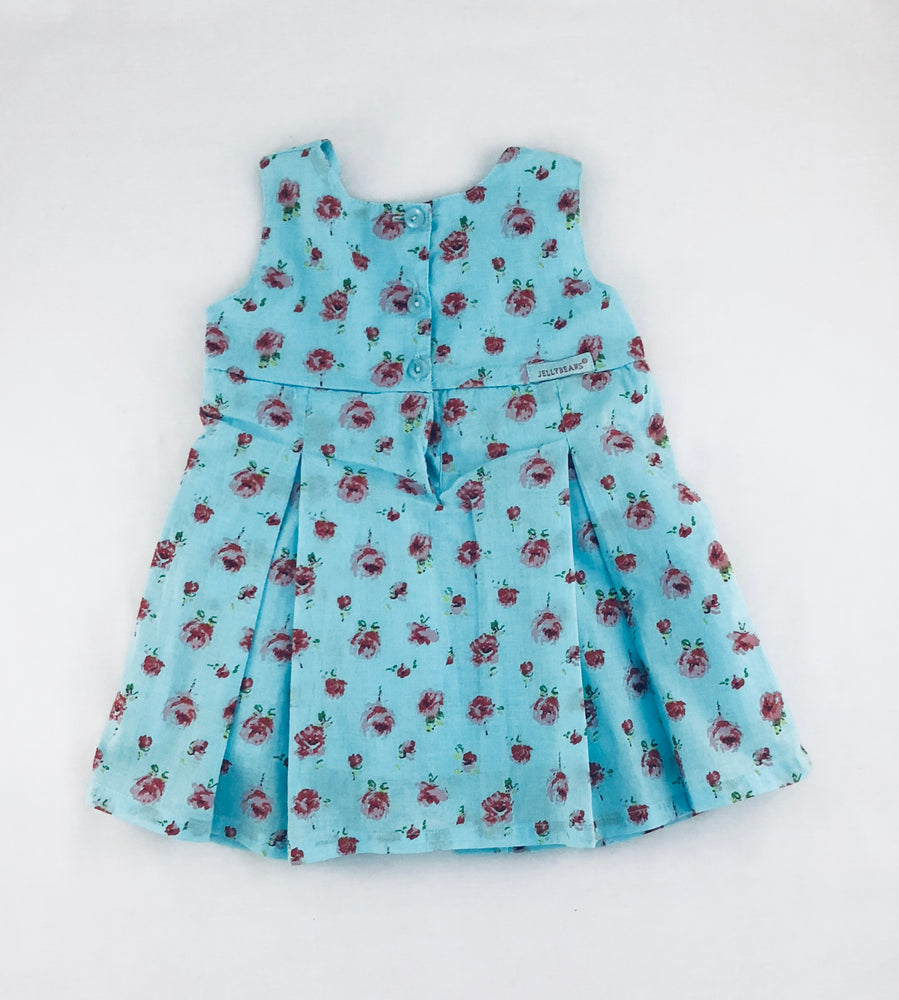 Jelly Beans Floral Sky Blue Dress