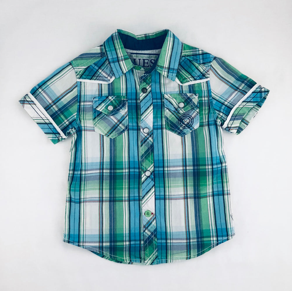 Guess Boys Plaid Multicolour Shirt