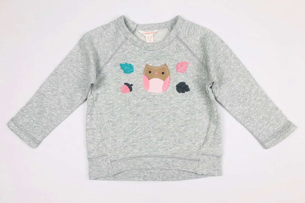 Country Road Girls Fleece Owl Jumper