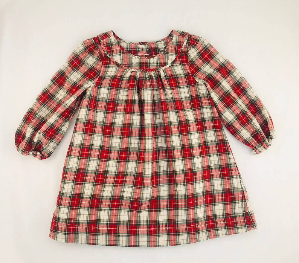Baby Gap Plaid Long Sleeves Dress