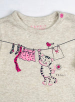Esprit Girls Happy Cat Top