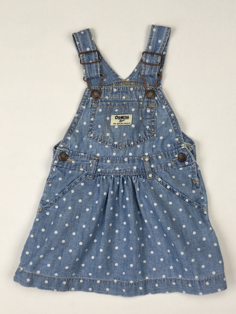 OshKosh Polka Dot Chambray Skirtall