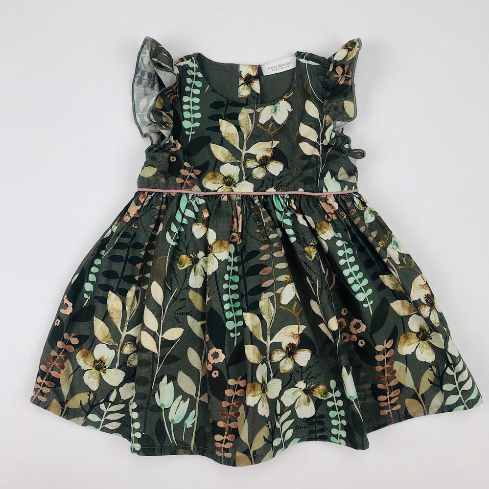 Next Baby Olive Green Floral Dress