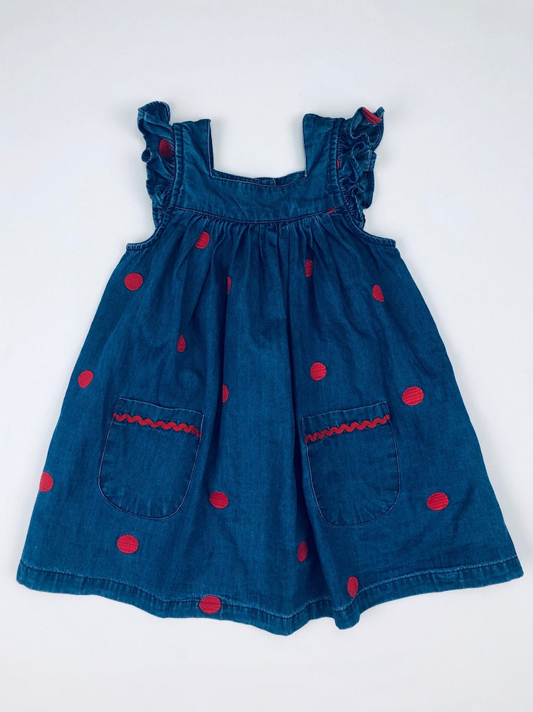 Jack & Milly Chambray Dotted Dress