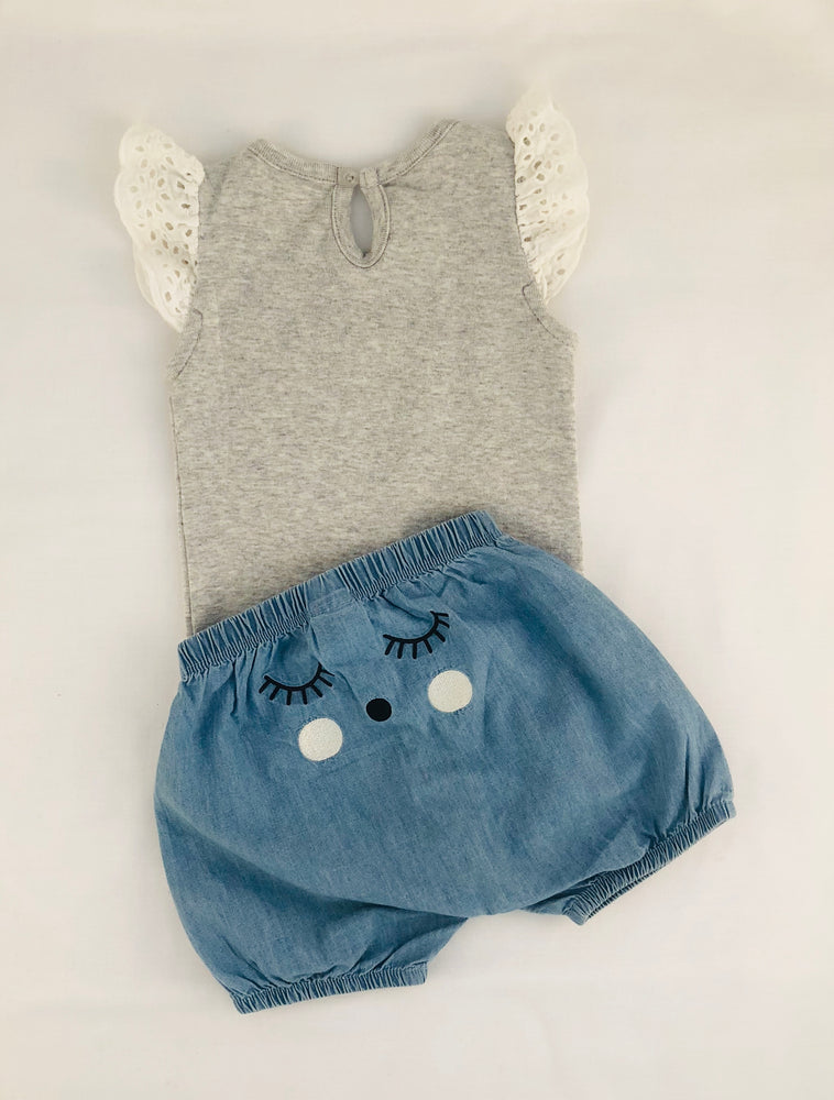 Seed Bodysuit and Chambray Shorts