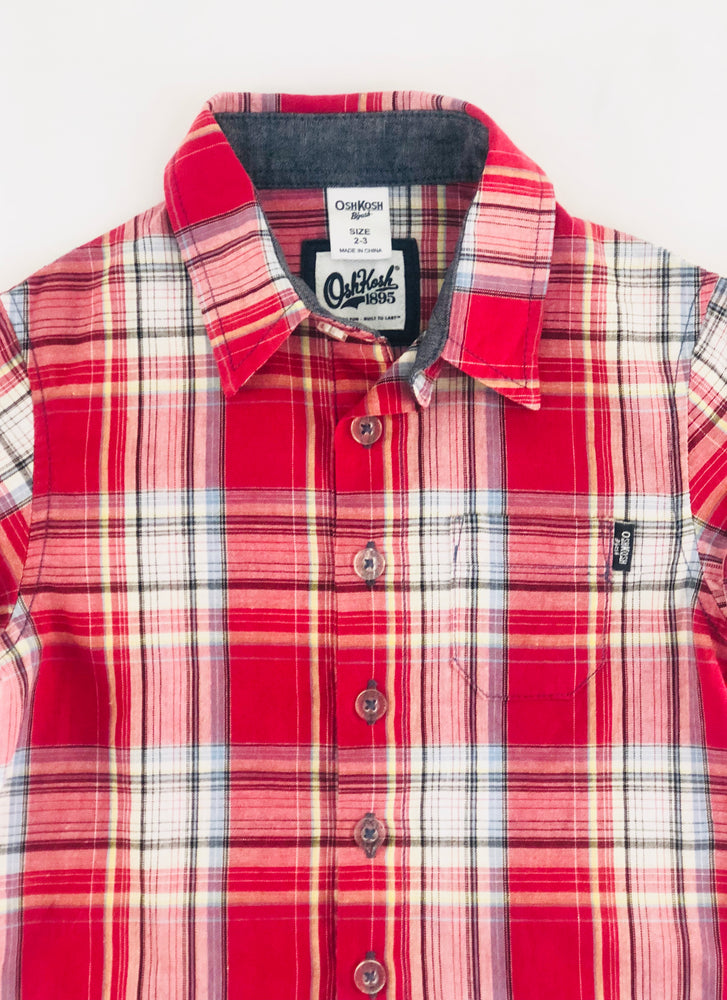 Oshkosh Plaid Boys Shirt