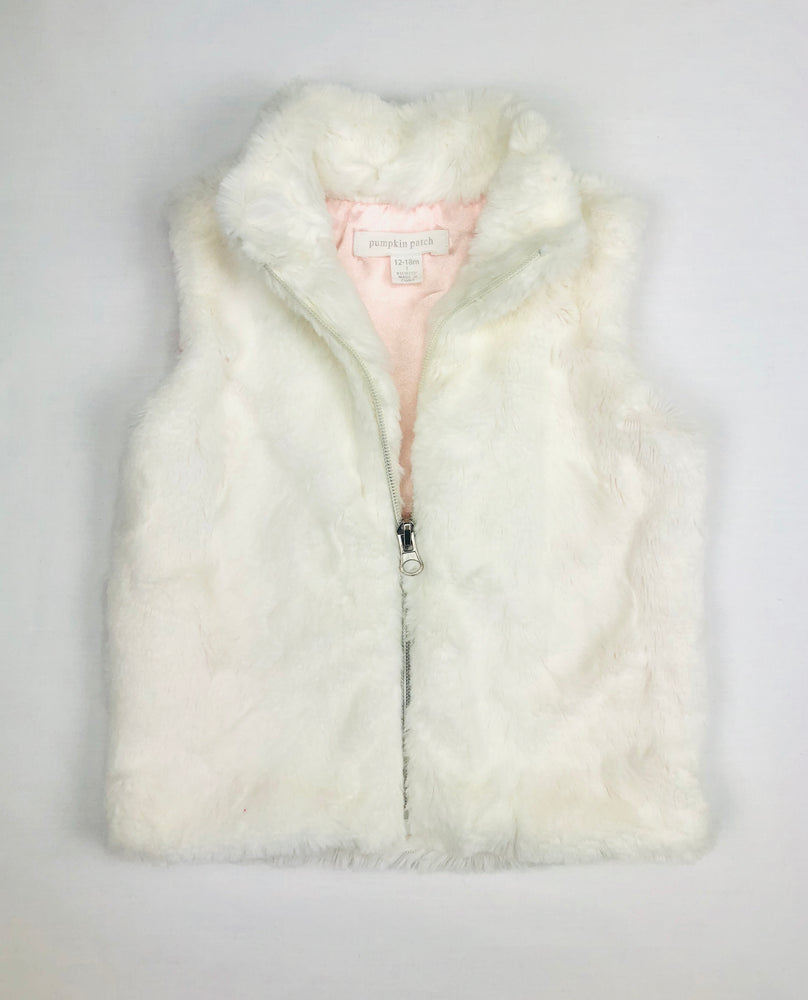 Pumpkin Patch Faux Fur Winter Vest