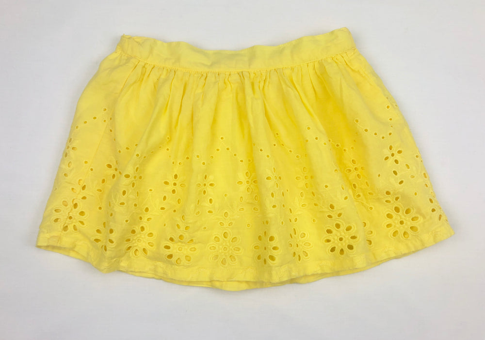 Pumpkin Patch Lemon Eyelet Skirt