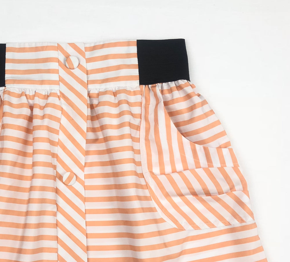 Paper & Scissors Stripped Skirt