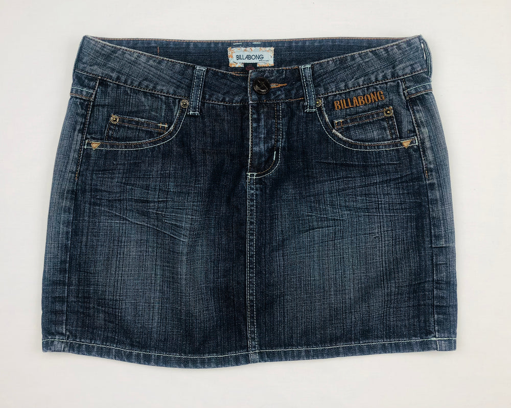 Billabong Blueish Black Denim Skirt