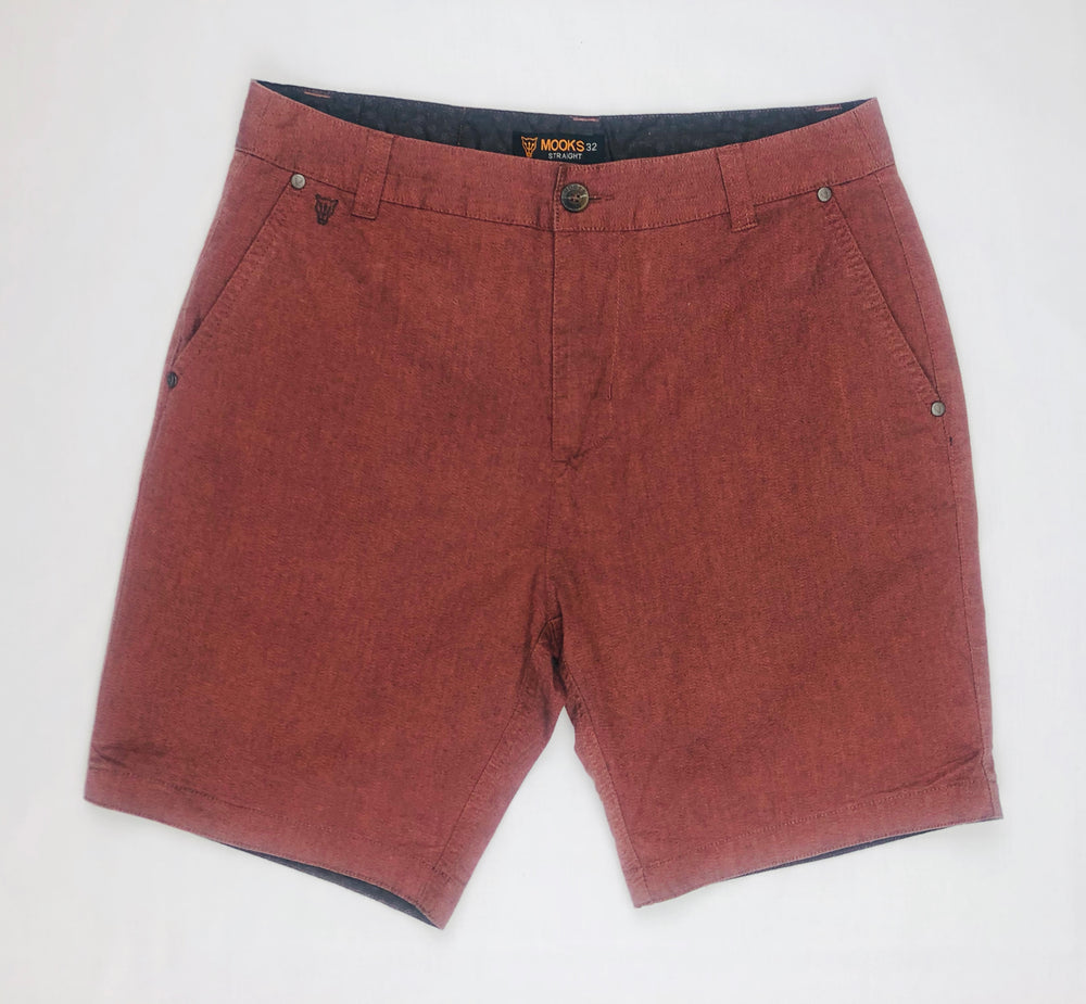 Mooks Orange Brown Shorts