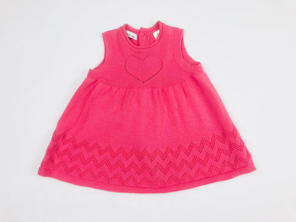 Beanstork Knitted Salmon Dress