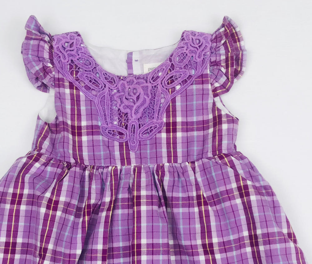 Pumpkin Patch Plaid Purple Dress