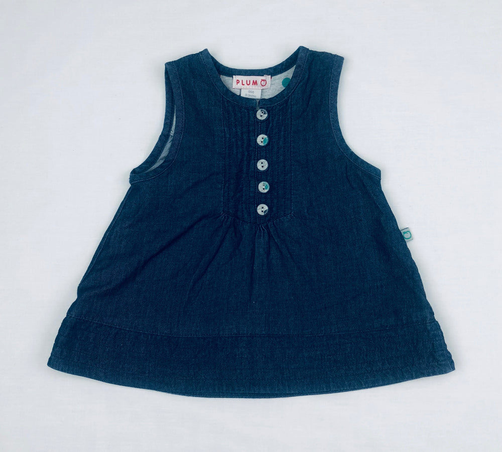 Plum Baby Chambray Summer Dress