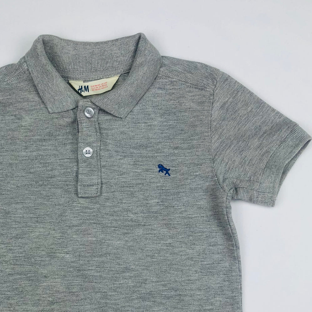 H&M Boys Grey Polo Shirt