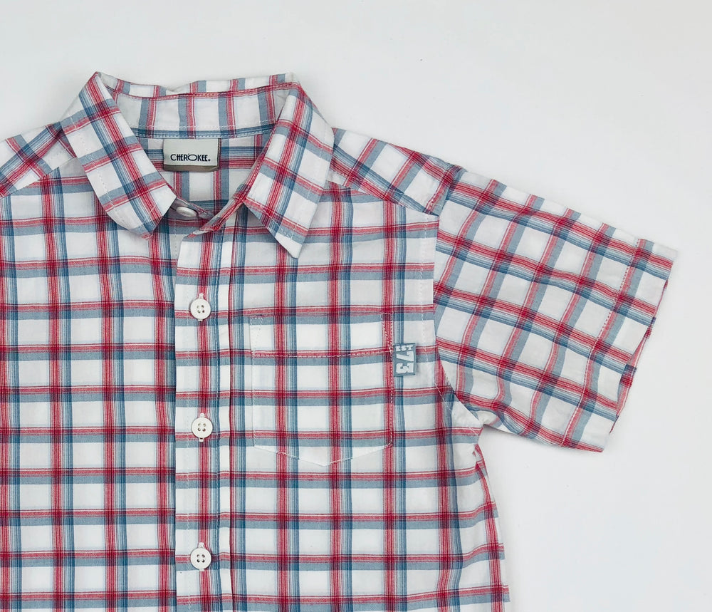 Cherokee Boys Plaid Polo Shirt
