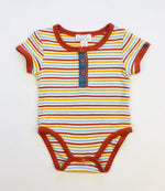 Pumpkin Patch Boys Stripe Orange Bodysuit