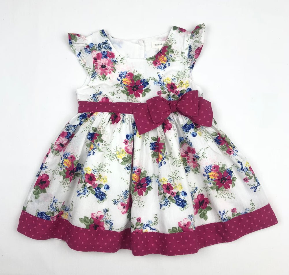 Pumpkin Patch Fuchsia Floral Dress