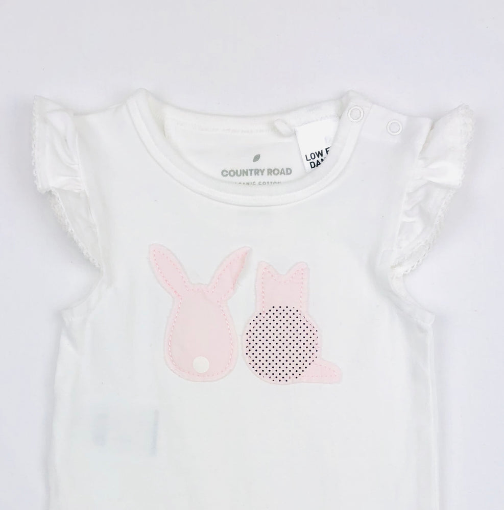 Country Road Pink Animals Bodysuit