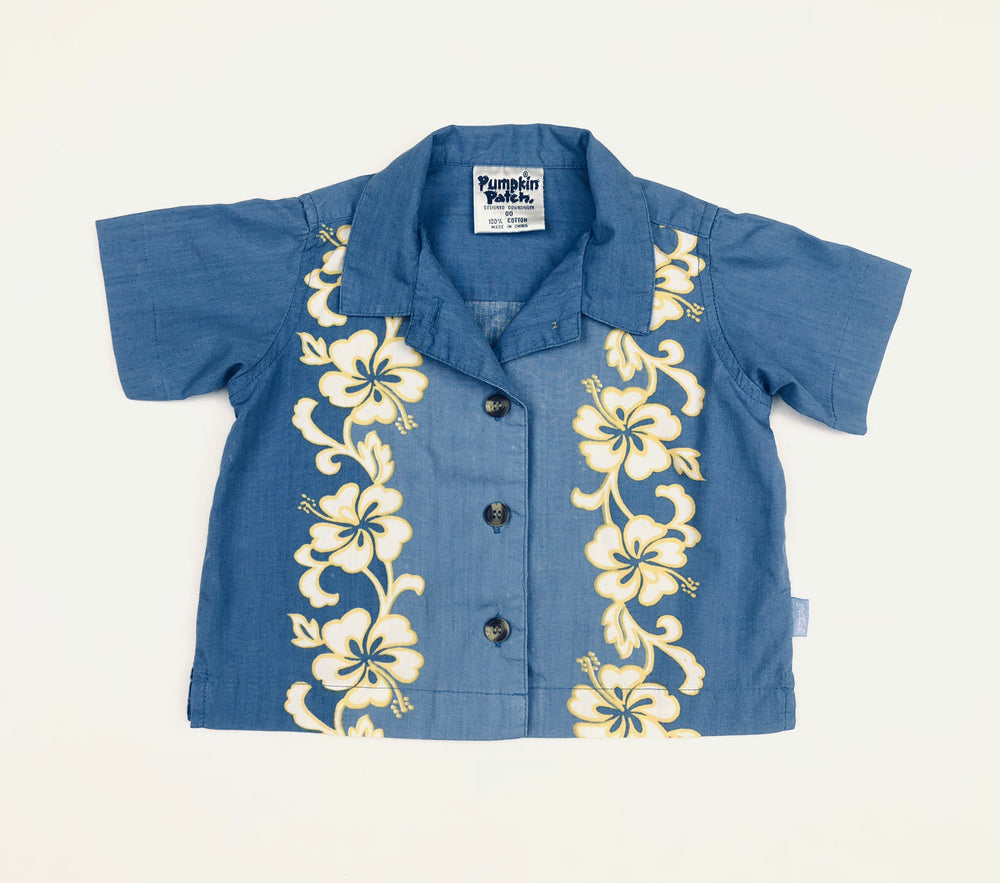 Pumpkin Patch Periwinkle Hawaiian Shirt