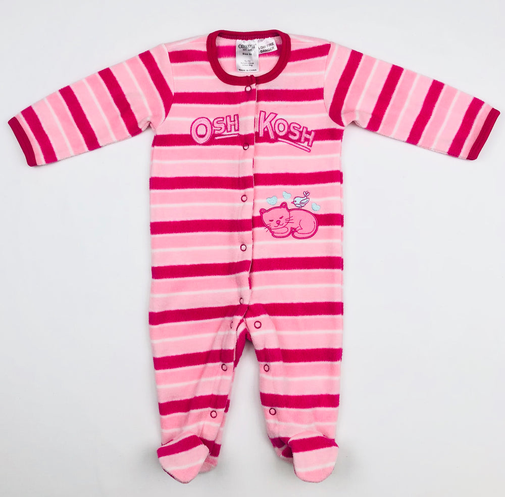 OshKosh Stripe L/S Girls Jumpsuit
