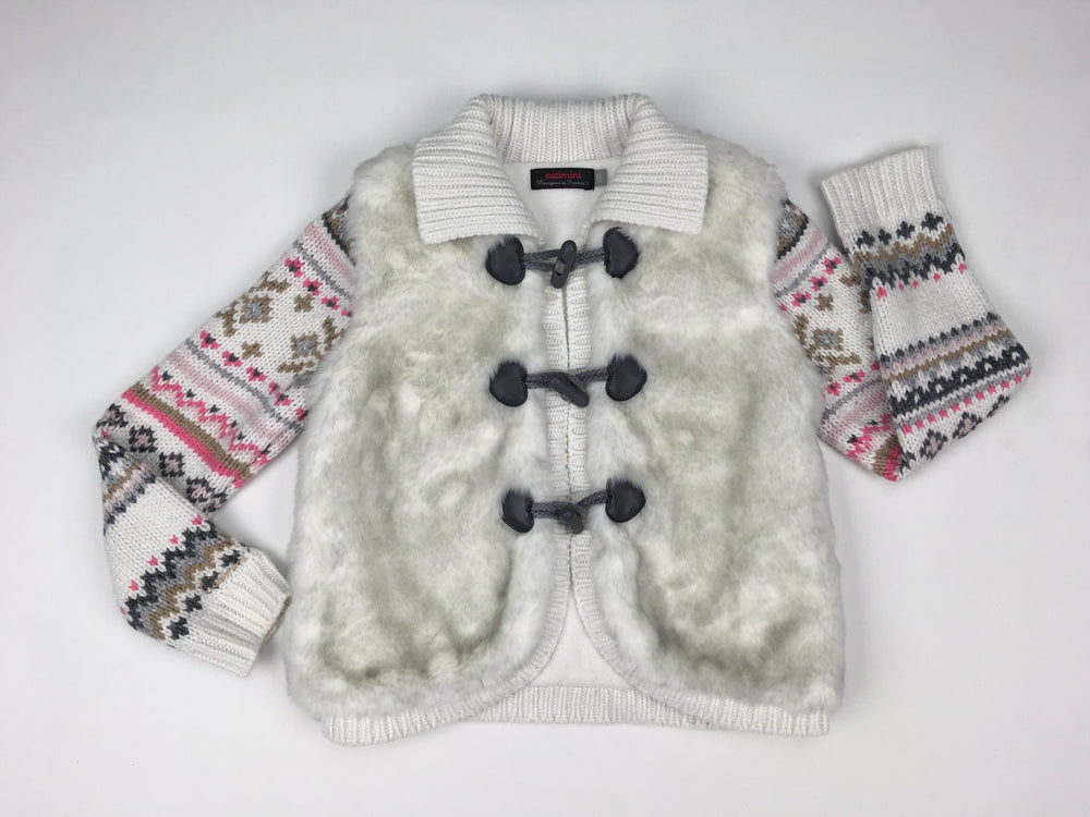 Catamini Girls White Knitted Jacket