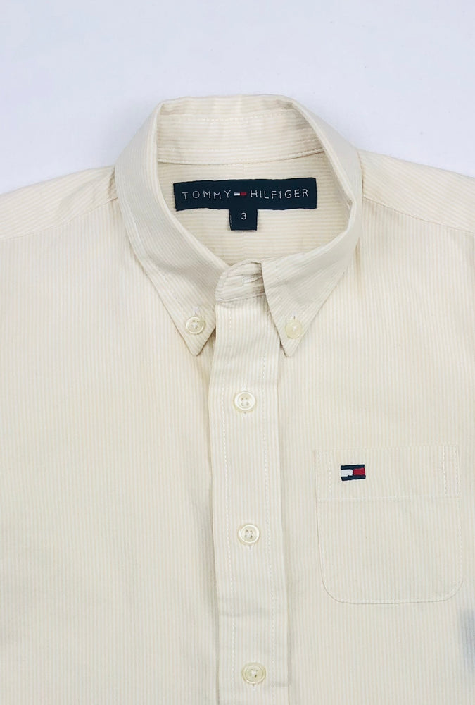 Tommy Hilfiger Stripe Yellow Polo Shirt