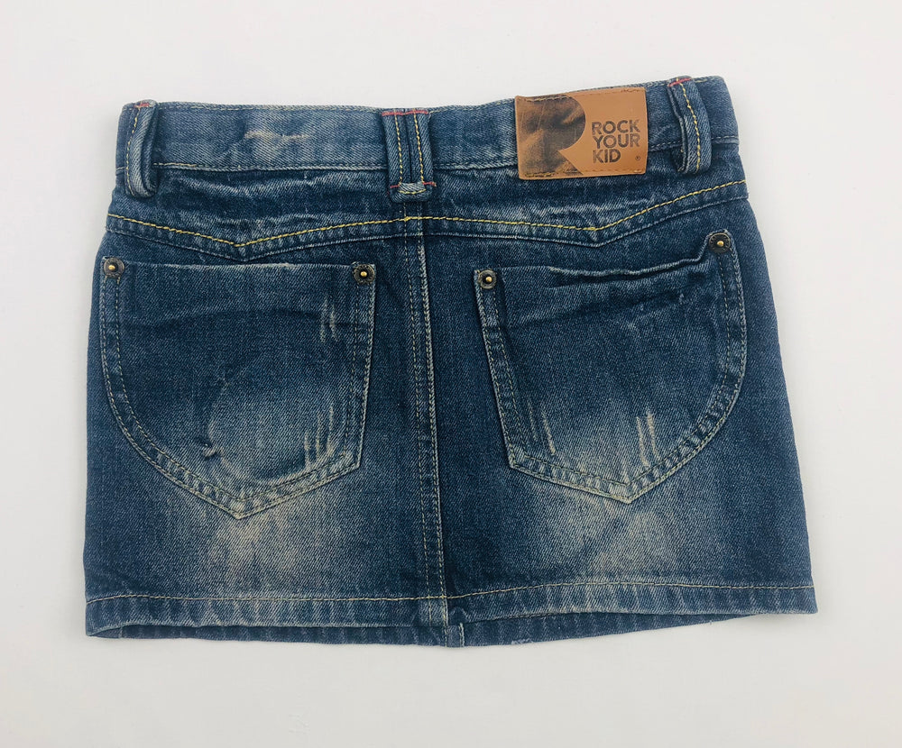 Rock Your Kid Girls Denim Skirt