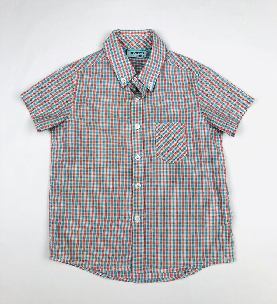 Brooklyn Industries Plaid Polo Shirt