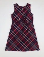 Brearley Apparel Ladybird Plaid Pinafore Dress