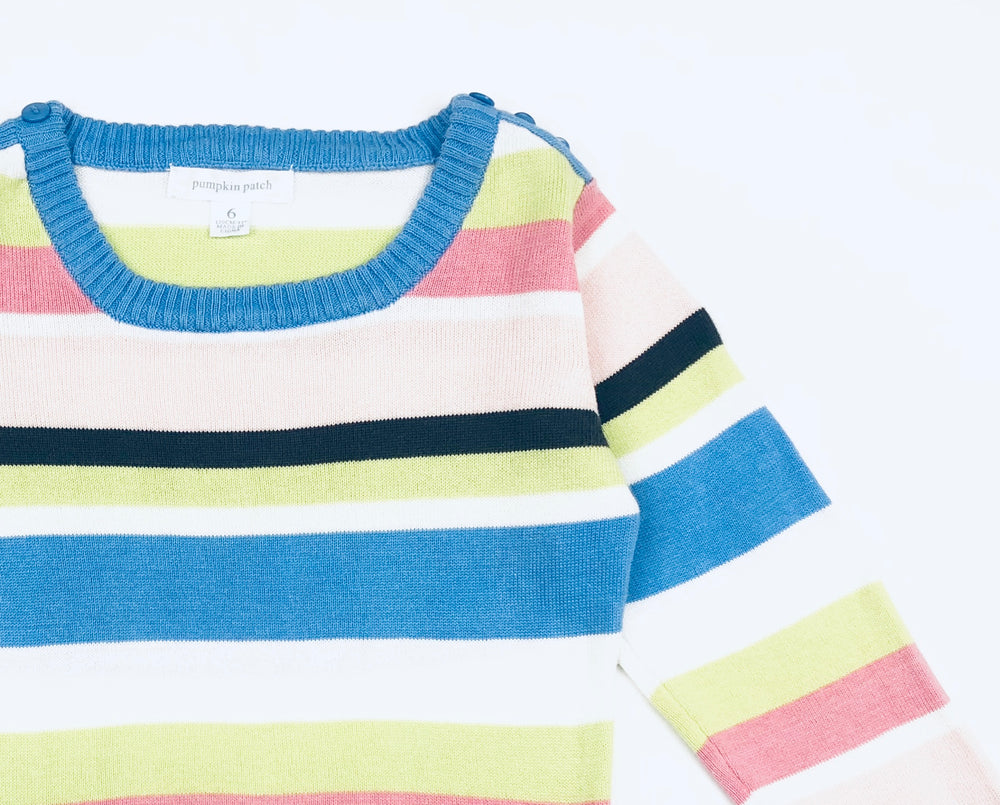 Pumpkin Patch Knitted Stripe Top