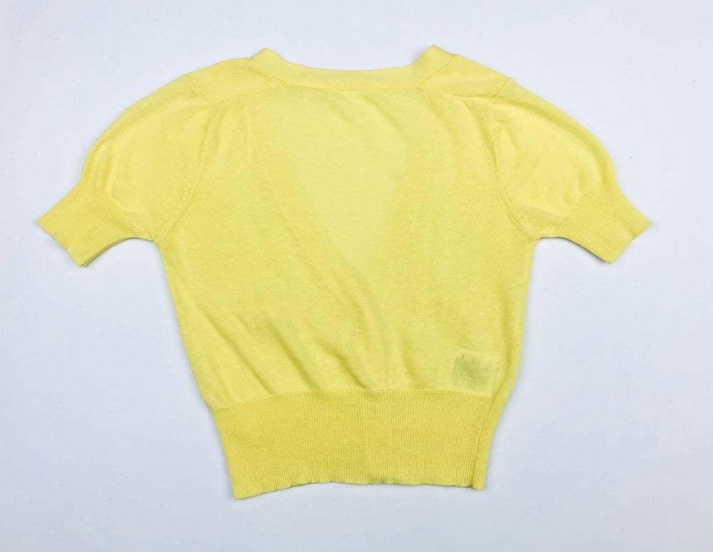 Country Road Yellow Knitted Top