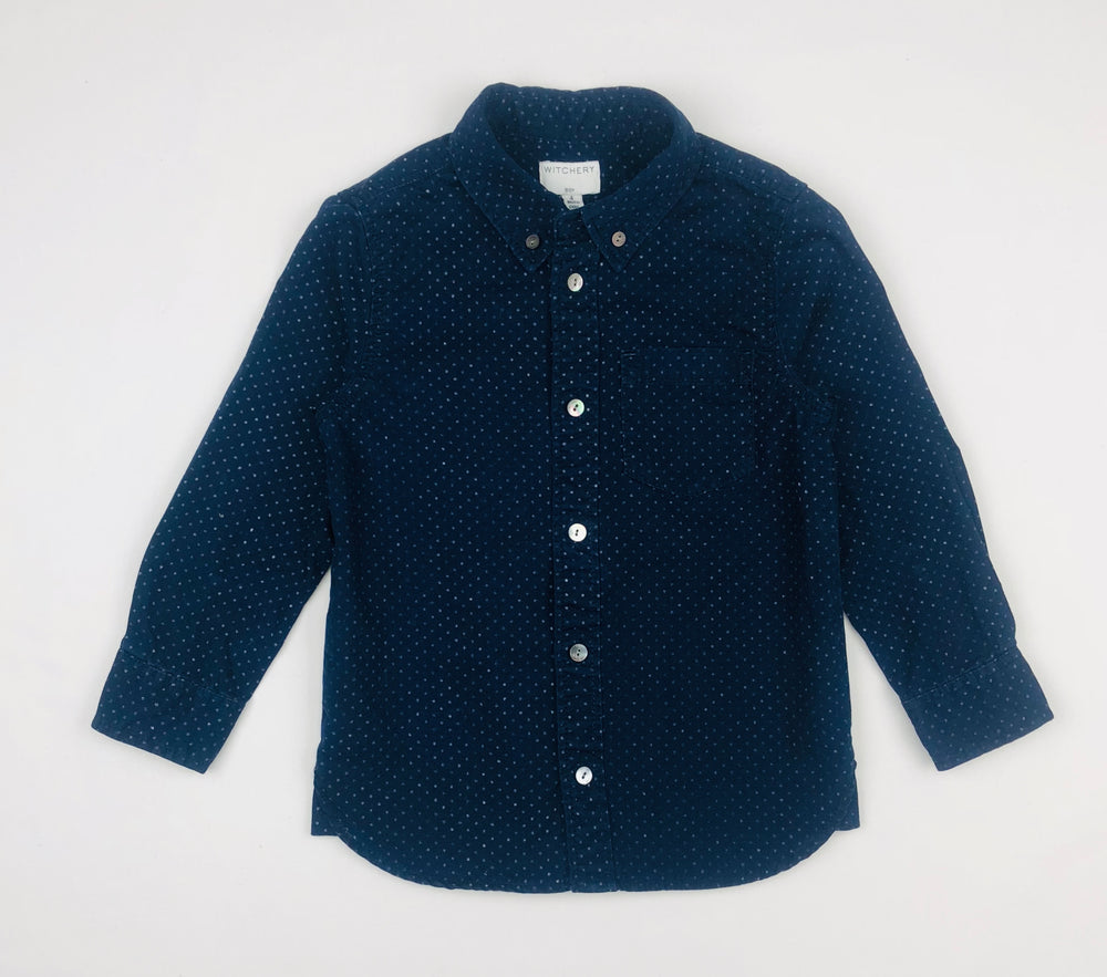 Witchery Boys Blue Polka Shirt