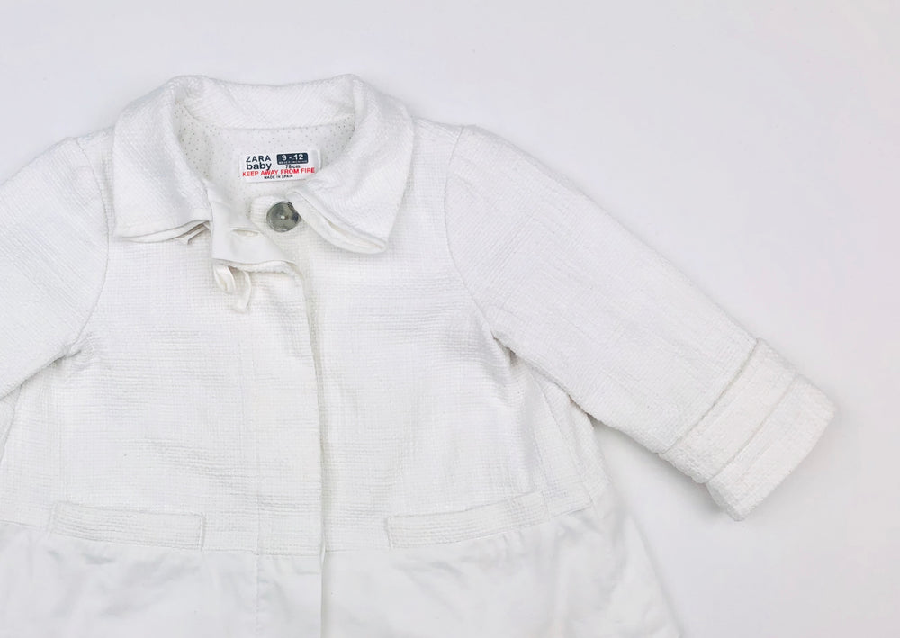 Zara Baby White Overcoat