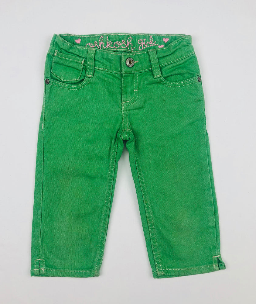 OshKosh Girl ¾ Green Denim Pants