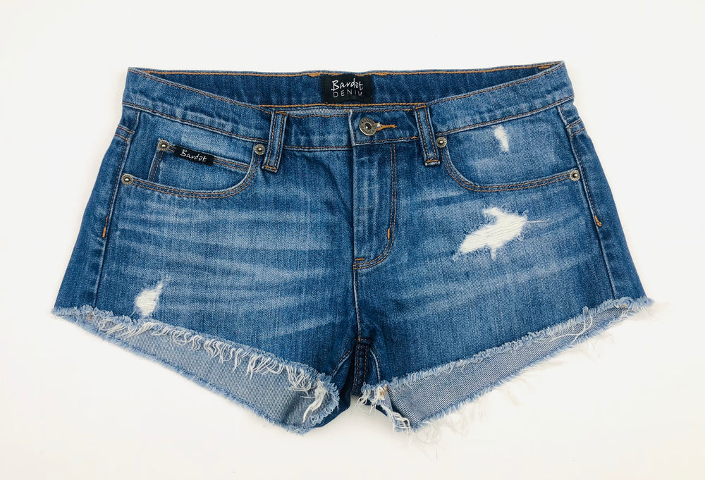 Bardot Girls Distress Denim Shorts