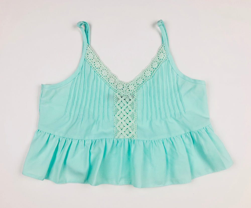Alive Girl Mint Lacey Top