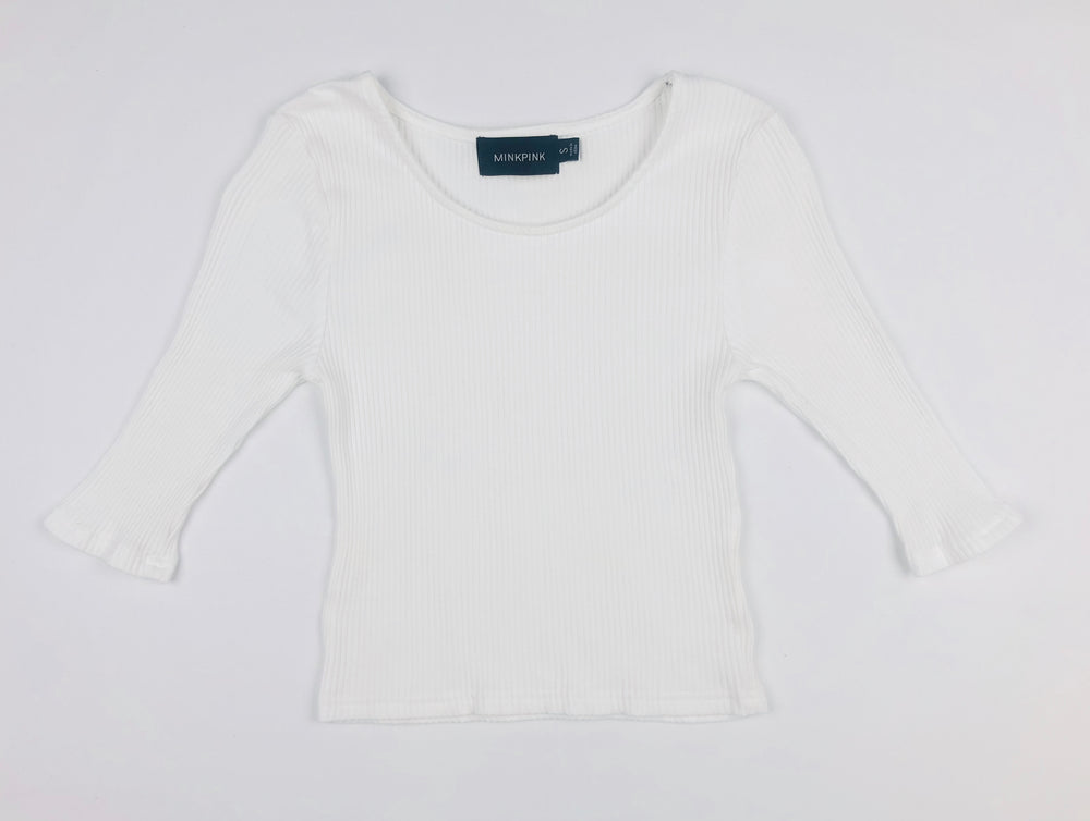 Minkpink White Skinny Top