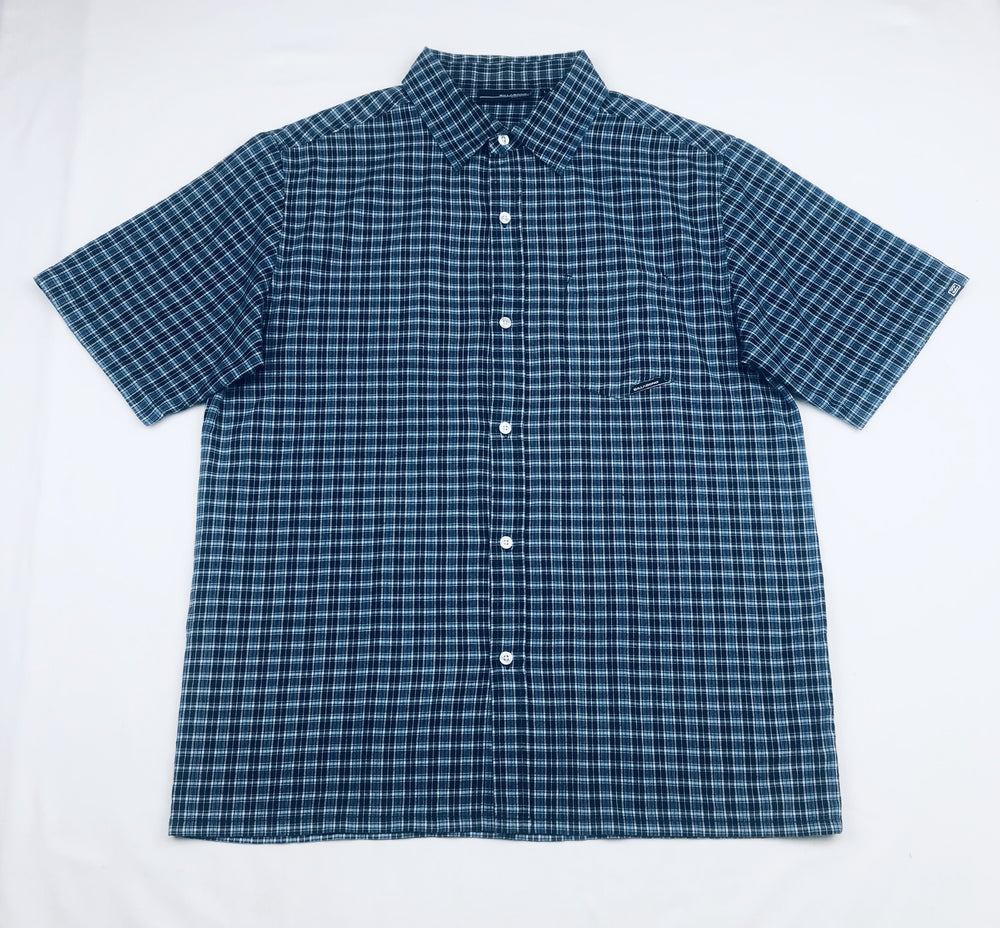 Billabong Plaid Blue Polo Shirt