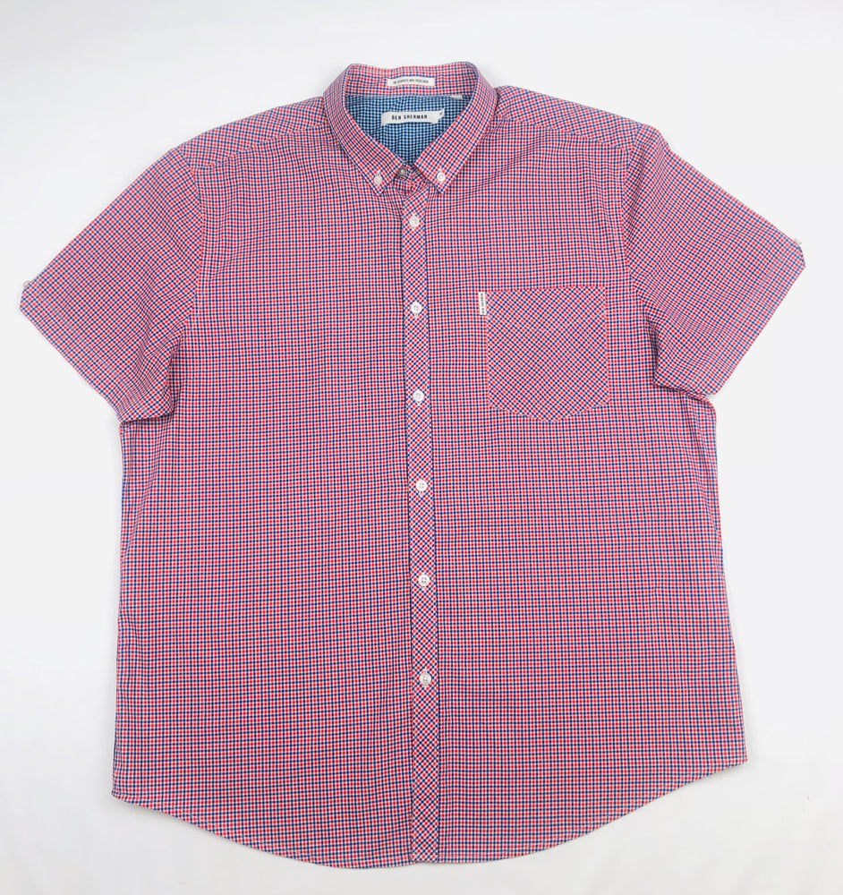 Ben Sherman Dawn RED Mod Check Shirt