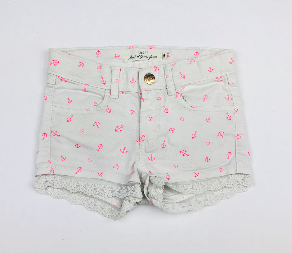 H&M Girls Anchor and Hearts Shorts