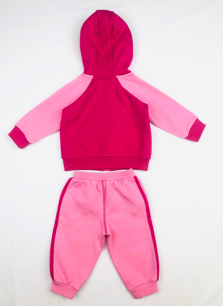 Lonsdale Girls Trackies Set Pink-Fuchsia