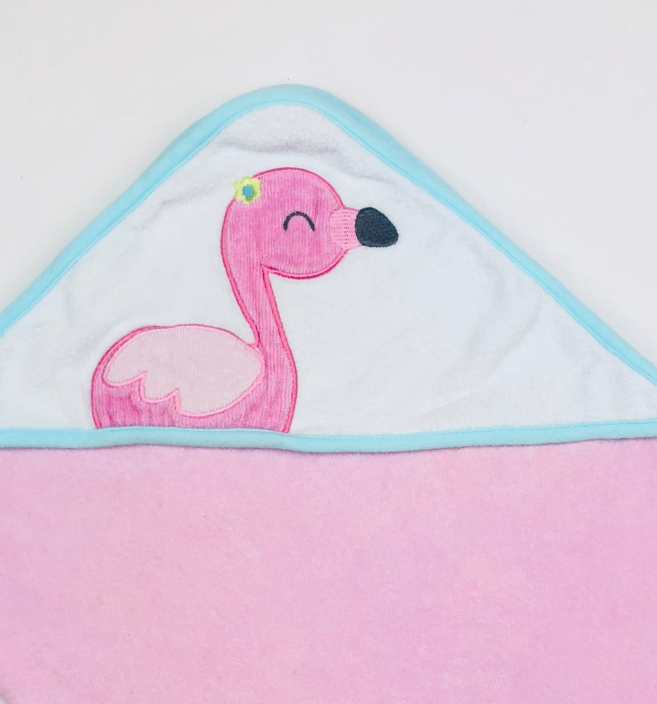 Carter's Flamingo Hooded Towel Baby Girl