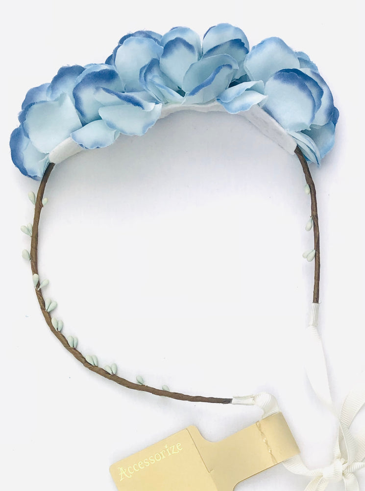 Blue Orchid Garland Headband