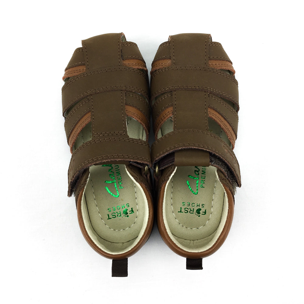 Clarks First Shoes Splash Boys Leather Sandals