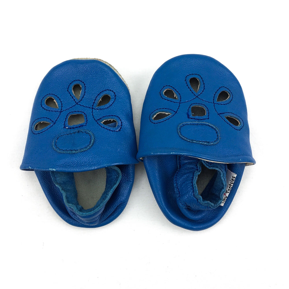 Tiny Tootsies Girls Blue Slip Ons