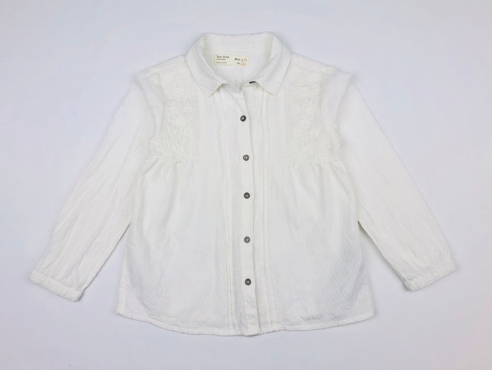 Zara Girls Broderie Top