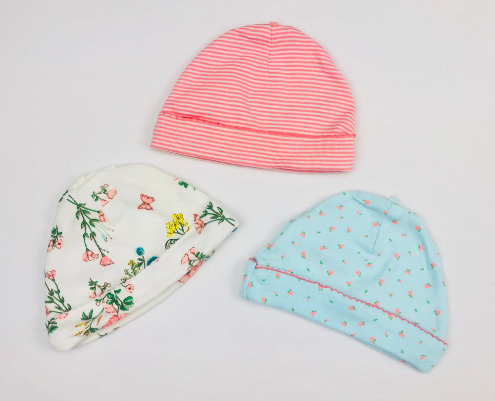 Carter's Baby Girl 3 Pack Beanies