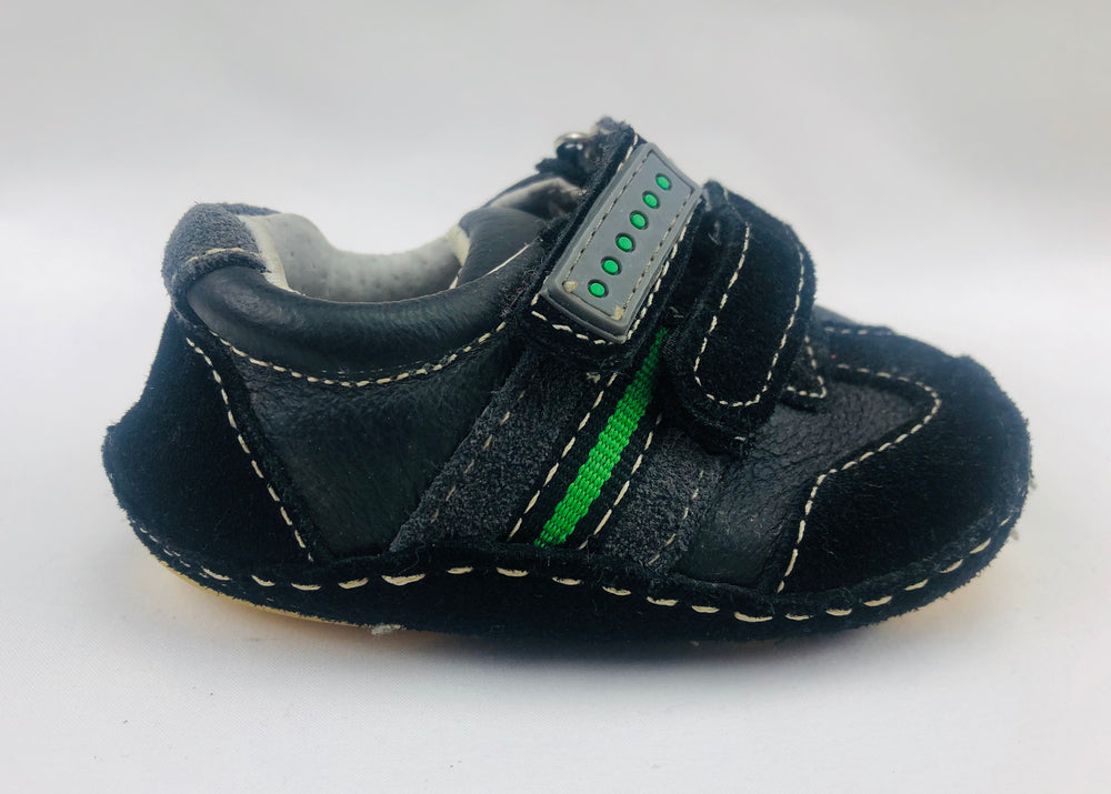 Black Leather Baby Boys Shoes