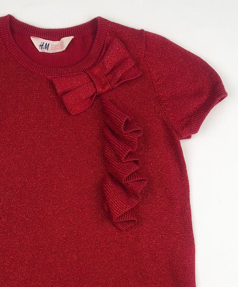 H&M Girls Knitted Red Dress